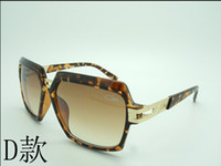 Wholesale 2014 new brown most popular Brand Germany Cazal Sunglasses fashion Unisex Acetate big size sunglasses
