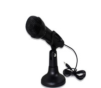 Wholesale Net KTV M Microphone Stand For Laptop PC Computer Karaoke Skype MSN conference oneself sing upload video chat recording input network mik
