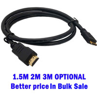 Wholesale Min pc HDMI Cable V male to male High Speed Digital Audio Video cable Adapter fr p PS3 HDTV LCD M M M DHL fedex UPS for