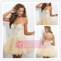 Reference Images aline cocktail dress - BL9652 Sexy Mini Sweetheart Short Graduation Dresses Beading Sequins Aline Prom Evening Dresses Cute Cocktail Dresses Lace up Back Homecomin