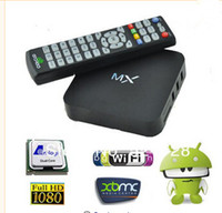 Wholesale XBMC GOTHAM Installed original version R28 CS838 Dual Core Android Smart TV BOX MX Media Player Amlogic Cortex A9 GB GB P