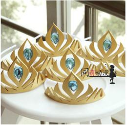 Wholesale New Cosplay Luxury Custom Frozen Elsa Princess crown Movie Cosplay Costume Adult Kid frozen crown