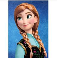 Wholesale Frozen Princess Dairy Queen Hair Wigs Snow Queen Cosplay Wig White Braid Hair Wear Hairpiece Elsa Hair Wigs