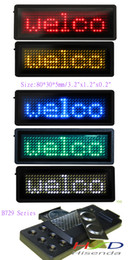 Wholesale 5colors LED name badge sign Scrolling advertising business card show display tag programmer Red Yellow Blue Green White