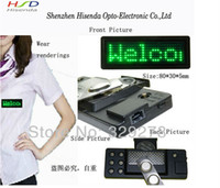 Wholesale Green color led Display board Led Name Badge Scrolling Signs Pixel X29 Display support English EU languages