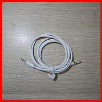 Wholesale Wholesales High Quality White mm To mm Earphone Headphone Adapter Car Aux Audio Cable For MP3