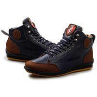 Wholesale 2014 Hot selling Winter men s fashion casual high top shoes plus velvet warm waterproof cotton sneakers