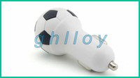 Wholesale World Cup Football USB Car Charger V A Soccer Ball Design Mini USB Power Adapter For Samsung S3 S4 S5 Note Universal