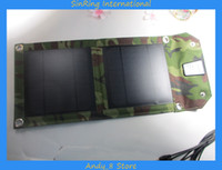 Wholesale 2014 New Outdoor Portable Solar Charger W Foldable Solar Energy Panel Available For Mobiles MP3 MP4 Digi Camera Ipad
