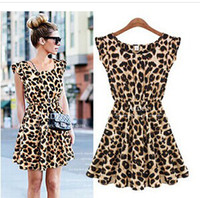 Over 2014 new summer sleeveless slim waist fashionista leopa...