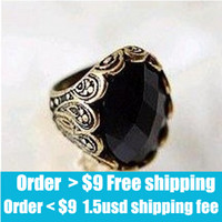 Cheap With Side Stones the black stone islam Best Fashion Rings black stone on a white st