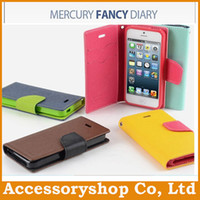 Cheap For Apple iPhone Mercury Wallet Stand Case Best Leather White PU TPU Hybrid Soft Cover