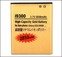Cheap High Capacity Gold replacement battery For Samsung Galaxy S3 SIII I9300 2850mAh Cell Phone Battery low price Free Shipping