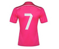 2014 15 Thailand Quality Away Pink #7 Ronaldo Soccer Jerseys...