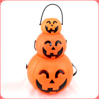 Wholesale 2014 Halloween decorations props cm cm cm Bar cans of pumpkin pumpkin bucket
