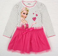 New 2014 Children Clothing Baby Girls Clothes Frozen Girl Dr...
