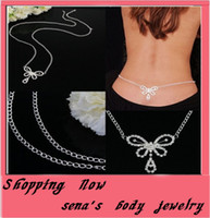 belly dance jewelry - body chain fashion body jewelry for dance butterfly waist belly chain navel chain