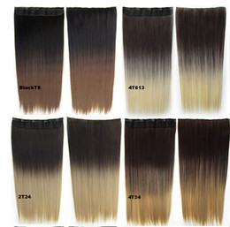 Wholesale Color wig hair weaving hair piece A chip five card straight gradient hair piece Long straight hair piece multicolor