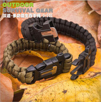 Wholesale Multi functional outdoor survival rope survival hand rope outdoor bracelet flint whistle