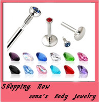 Wholesale lip rings mix color stainless steel internally body lip piercing labret rings bar
