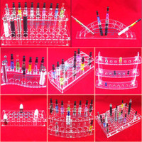 e cig display stand - various styles electronic cigarette stand holder Acrylic display case shelf holder display rack for ego battery atomizer e cig drip tip