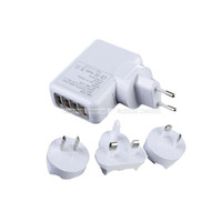Wholesale S5Q Travel AC Home Wall Power Charger Adapter Plug USB Hub For IPhone Samsung AAADMP