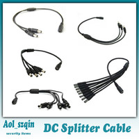 Wholesale splitter cable dc power splitter to way cable