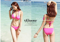 Men Bikinis Dot swimwear The new South Korean bikini swimsuit bikini small chest gather pearl fabric factory direct female tour