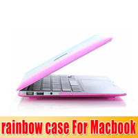 Wholesale Rainbow colorful Matt Hard Case for Macbook Pro quot cover for Macbook Pro inch sexy girls
