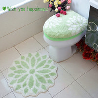 overcoat toilet case synthetic hair light green Jaster thick toilet set piece set toilet set toilet seats toilet cover set pad