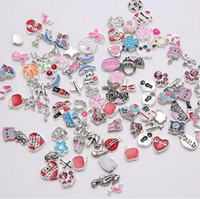 Wholesale Living Memory Floating Locket Charms DIY Mix styles locket Charms