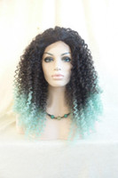 Cheap Ombre Color lace wig Best Curly Synthetic hair synthetic wig