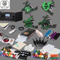 4 Guns Professional Kit  FTtattoo Complete Tattoo Kit 4 Machine Guns Digital Power Supply 40 Inks