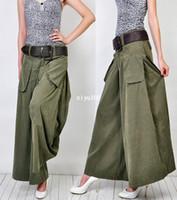 Wholesale Summer plus size culottes fashion wide leg pants women s full length trousers