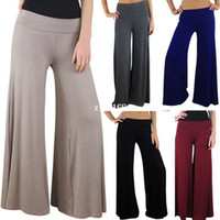 Wholesale Hot Sale New Brand Casual Women Pants Loose Women s Zigzag Palazzo Wide Leg Pants Colors