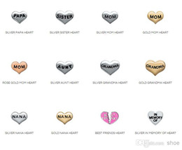 Wholesale Origami Owl familyFloating Charms For Glass Lockets mixed styles