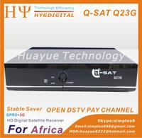 Wholesale Q Sat Q23G HD DVB S2 Africa GPRS Decoder With SIM Card Slot Q Sat QSat TV Receiver