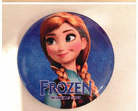 Multicolor PVC Pendant Wholesale - frozen badges children button pin badge 4.5cm Anna Elsa princess Olaf costume cosplay baby toy fashion badges present 480pcs