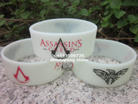 Jelly, Glow Other Unisex assassin's creed III wristband,glow in the dark bracelet,custom design logo bracelet,promotion band,silicone printed bracelet