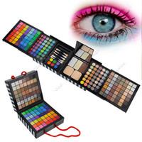 mini lip gloss - Eye Shadow Palette Cheek Blush Lip gloss Fashion Makeup Set Mini Eye Brush SV000423