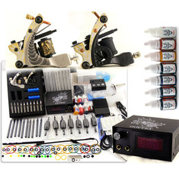 Wholesale Complete TATTOO KIT Tattoo Machines Colors ML Tattoo Ink Black Carry Case