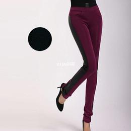 Wholesale Plus Size M XL Women Skinny Long Cotton Padded Pencil Pants Winter Fashion Lady Black Slim Big Size Trousers C3061