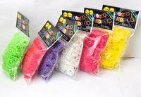 Cheap Rainbow Loom Kit DIY Bracelet Maker with Silicone Mix Colors Rubber braided bracelet 600 pcs bands + 24 pcs C or S-clips