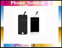 For Apple iPhone LCD Screen Panels  Black and white Glass Touch Screen Digitizer & LCD Assembly Replacement For iPhone 5s Freeshipping