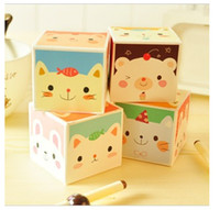 boxed greeting cards - Korean students stationery cute animal magic super Moe boxed Memo pad notes Notebook Paper Notepad