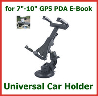 Wholesale Universal Windscreen Car Mount Holder Adjustable for inch Tablet PC iPad Mini P1000 GPS Navigator Headrest Suction Cup Holder Set