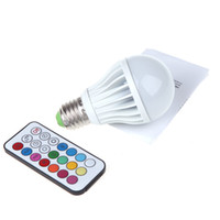 Wholesale 5pcs E27 High Power LED Multi Color Change RGB Color Light Led Bulb Lamp Remote Control Spotlight Spot Lighting Two Million Colors W H10638
