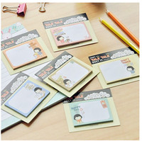 Wholesale Korean students stationery cookyshop Bobo head girl Memo pad notes Notebook Paper Notepad