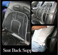 Neck Pillow Red Leather Free shipping New Car Seat Chair Massage Back Lumbar Support Mesh Ventilate Cushion Pad Black