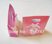 Other Jewelry Packaging & Display Yes Free Shipping Wholesale 20*4*2CM Romantic Pattern Style Gift Bag Paper Pouch Wedding Party Birthday Small Paper Bags078004034